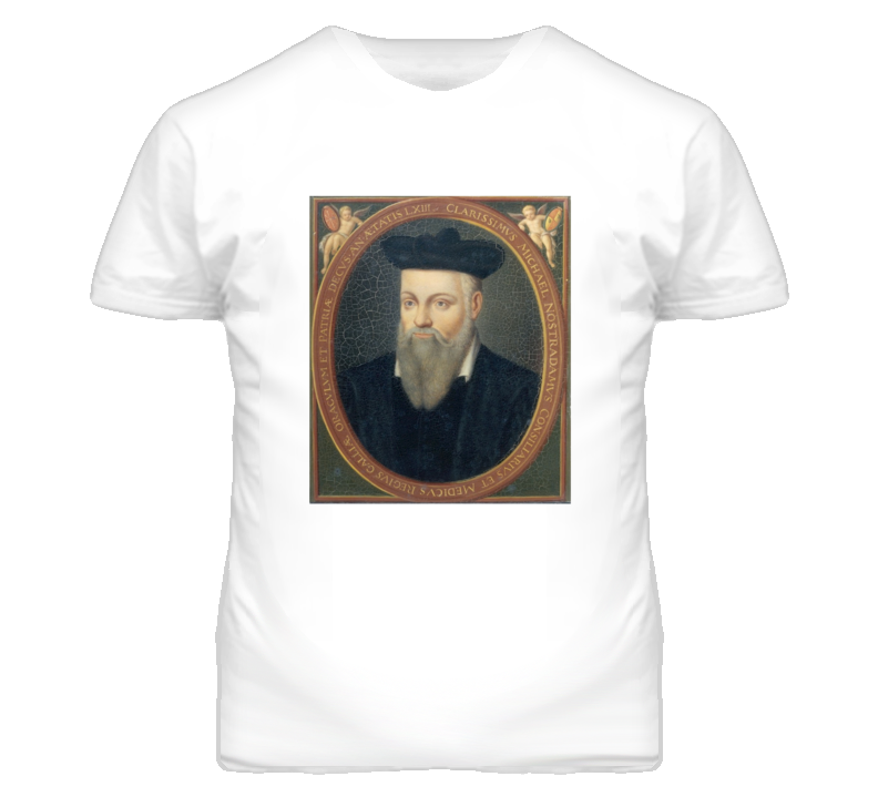 Nostradamus Profile Picture Faded Look T Shirt