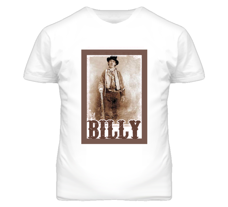 Billie The Kid William Bonney Faded Look T Shirt
