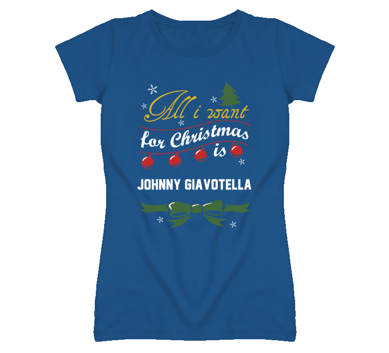 All I Want for Christmas Is Johnny Giavotella Funny Kansas Baseball T Shirt