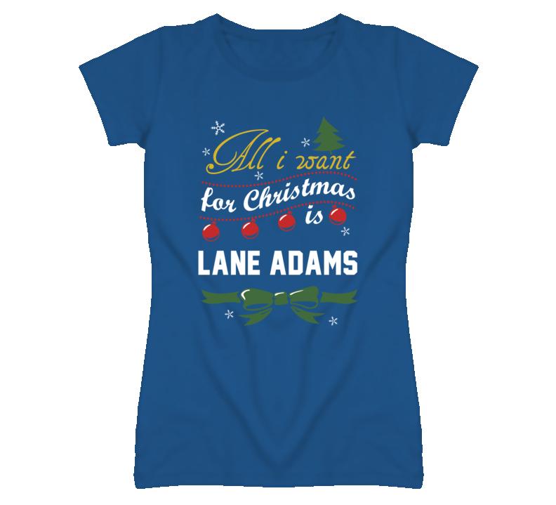 All I Want for Christmas Is Lane Adams Funny Kansas Baseball T Shirt