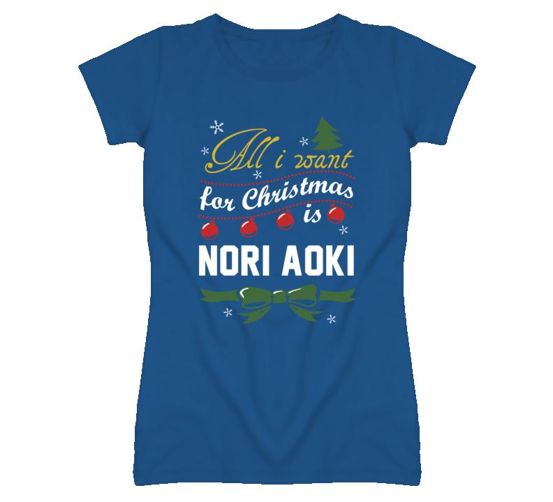 All I Want for Christmas Is Nori Aoki Funny Kansas Baseball T Shirt