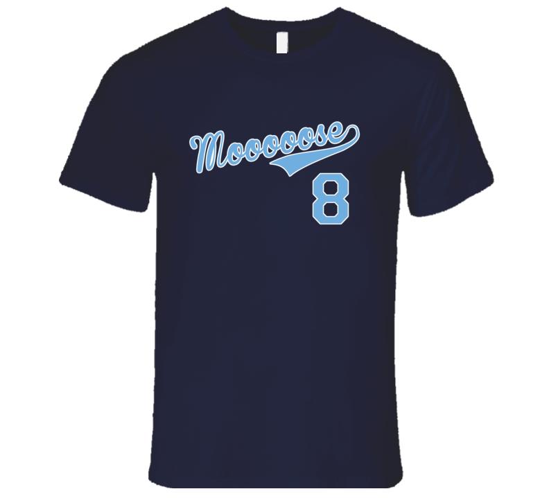 57108e64 Moose Mike Moustakas Kansas Nickname Funny Dark T Shirt