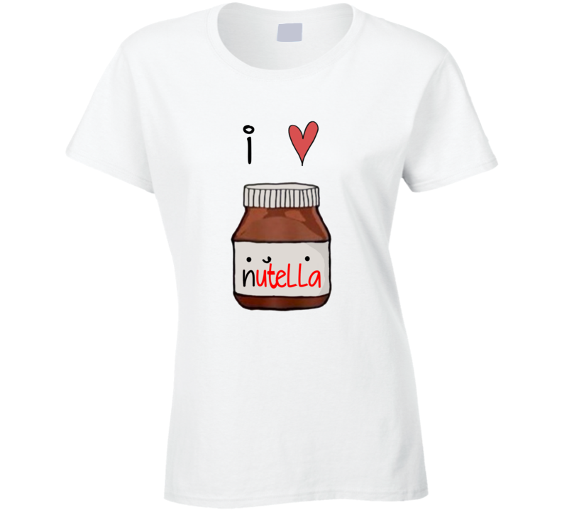 I Heart Nutella Funny Popular Celebrity T Shirt