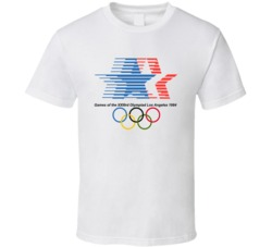 Los Angeles Summer 1984 Olympics Retro Logo World Olympiad Event T Shirt