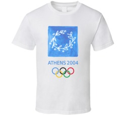 Athens Summer 2004 Olympics Retro Logo World Olympiad Event T Shirt