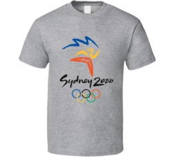 Sydney Summer 2000 Olypics Retro Logo World Olympiad Fan T Shirt