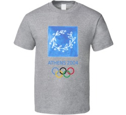 Athens Summer 2004 Olypics Retro Logo World Olympiad Fan T Shirt