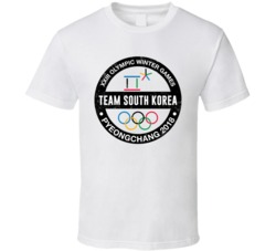 Team South Korea Pyeongchang 2018 Winter Olympic Games Country Fan T Shirt