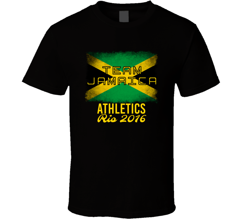 Jamaica Athletics Rio 2016 Olympic Team Flag T Shirt