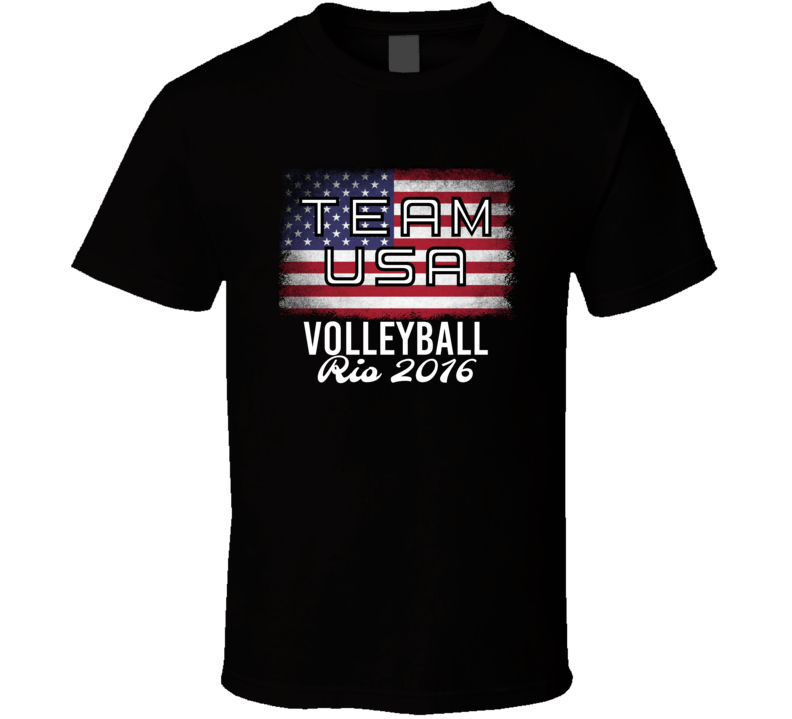 United States USA Volleyball Rio 2016 Olympic Team Flag T Shirt