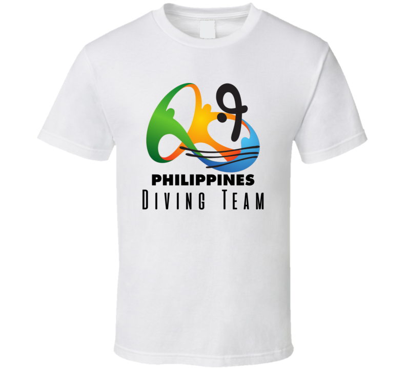 Philippines Diving Team Rio 2016 Olympic Event Logo T Shirt