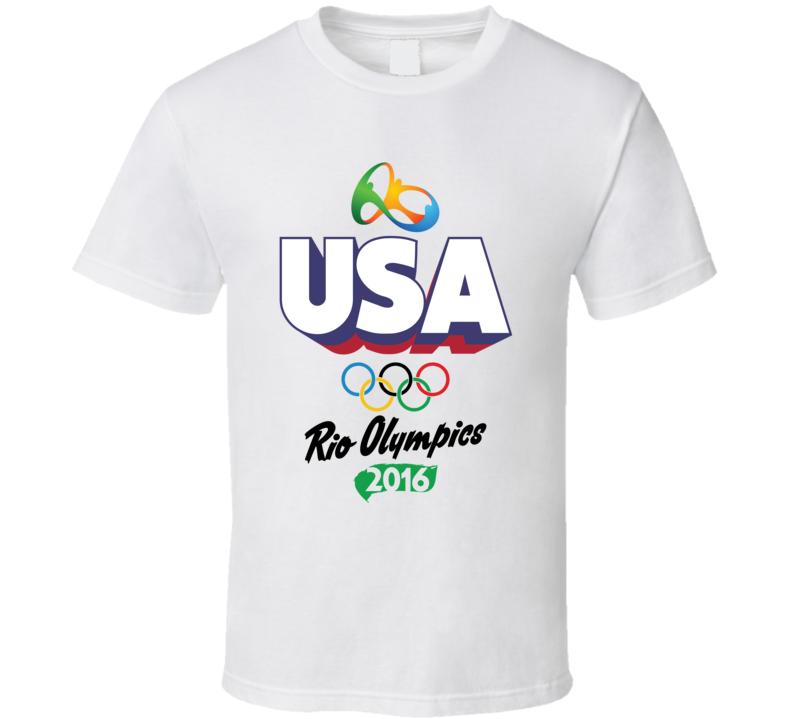 USA Rio 2016 Summer Olympic Games Sports Fan T Shirt