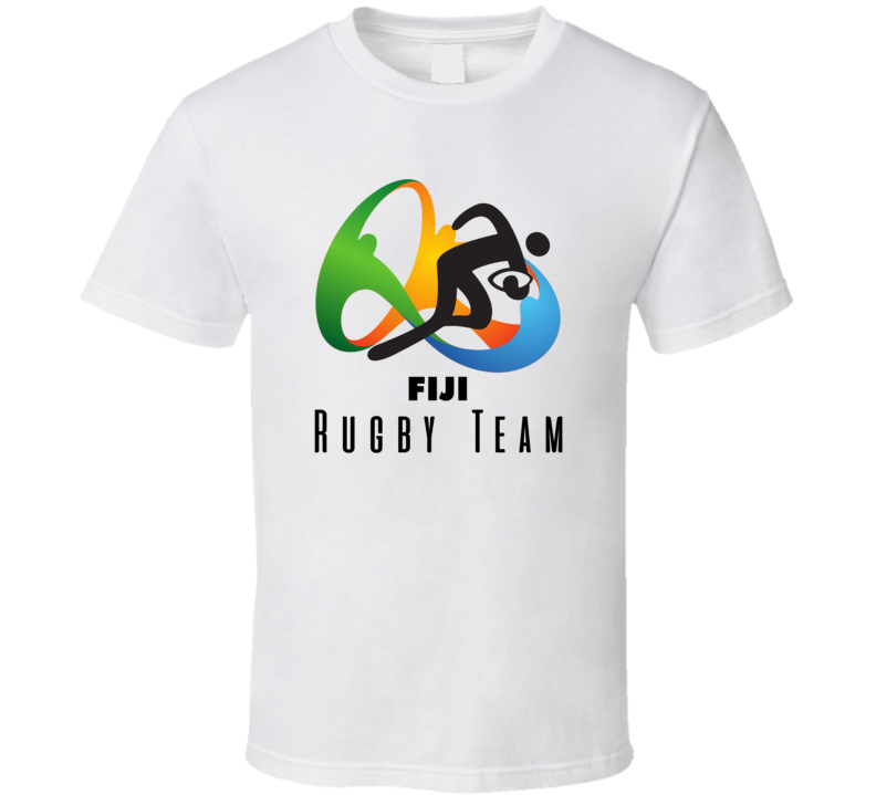 Fiji Rugby Team Rio 2016 Olympic Event Logo T Shirt