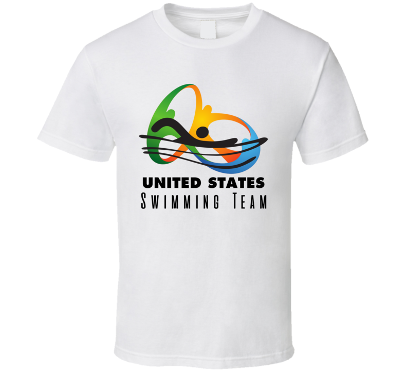 United States Swimming Team Rio 2016 Olympic Event Logo T Shirt