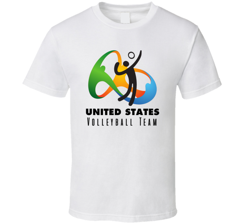 United States Volleyball Team Rio 2016 Olympic Event Logo T Shirt