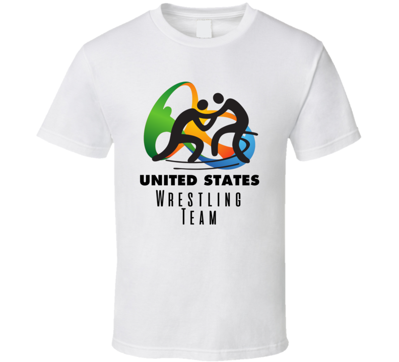 United States Wrestling Team Rio 2016 Olympic Event Logo T Shirt