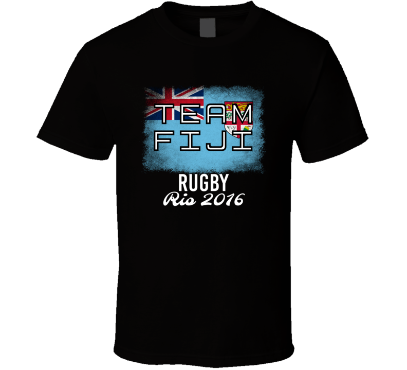Fiji Rugby Rio 2016 Olympic Team Flag T Shirt