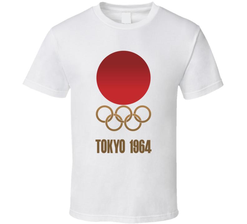 Tokyo Summer Olympics 1964 Retro Logo Olympiad Sports Event T Shirt