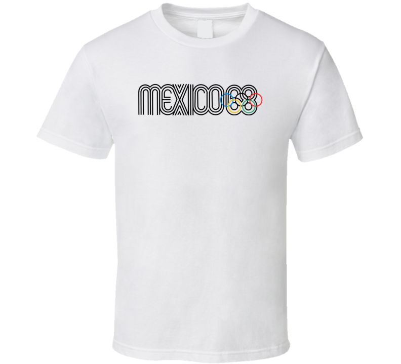 Mexico Summer Olympics 1968 Retro Logo World Olympiad Event T Shirt