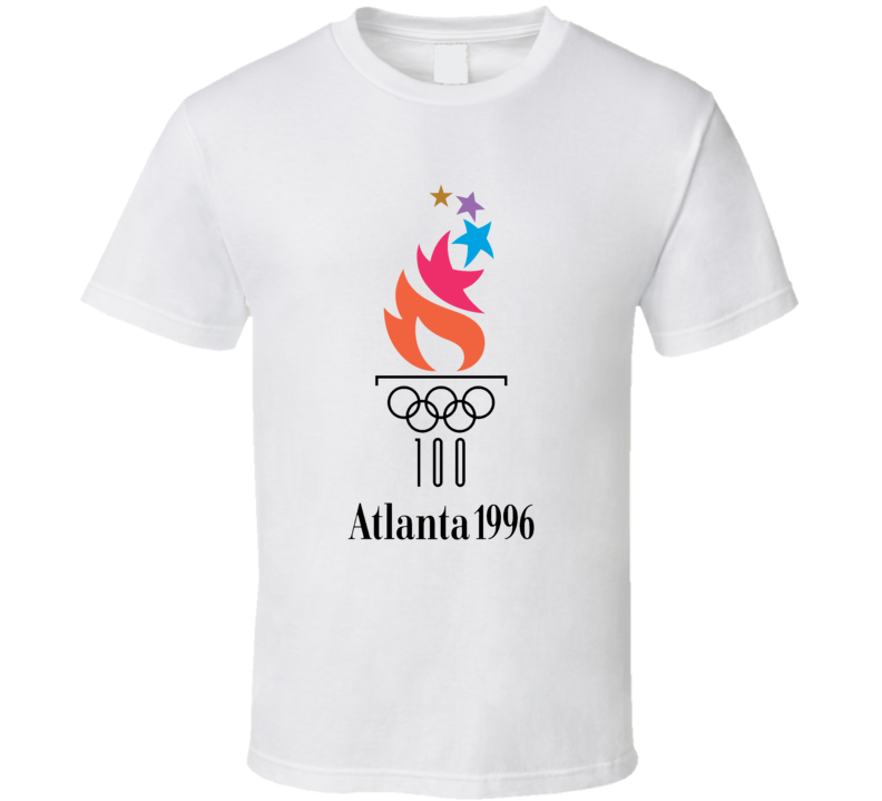 Atlanta Summer 1996 Olympics Retro Logo World Olympiad Event T Shirt