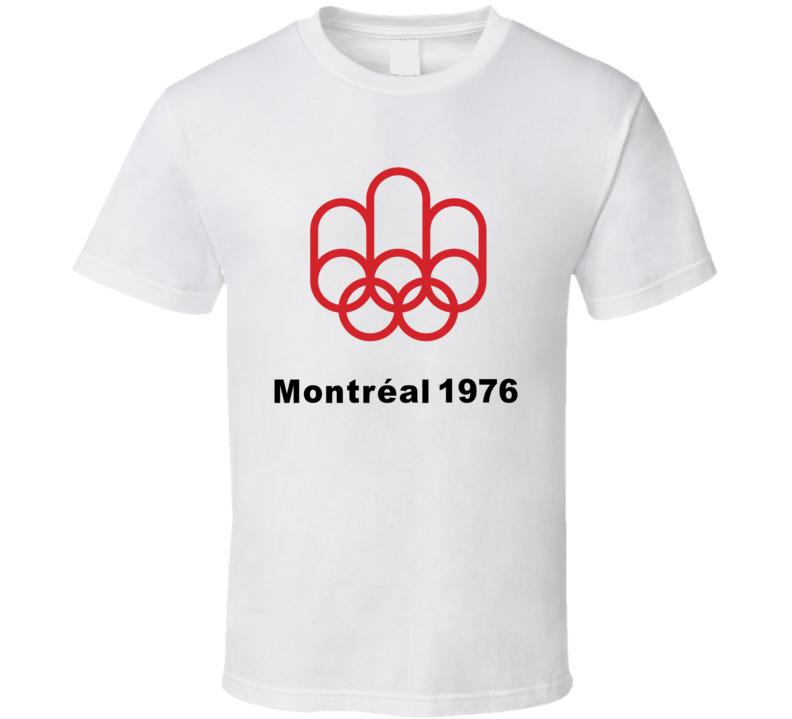 Montreal Summer 1976 Olympics Retro Logo World Olympiad Event T Shirt