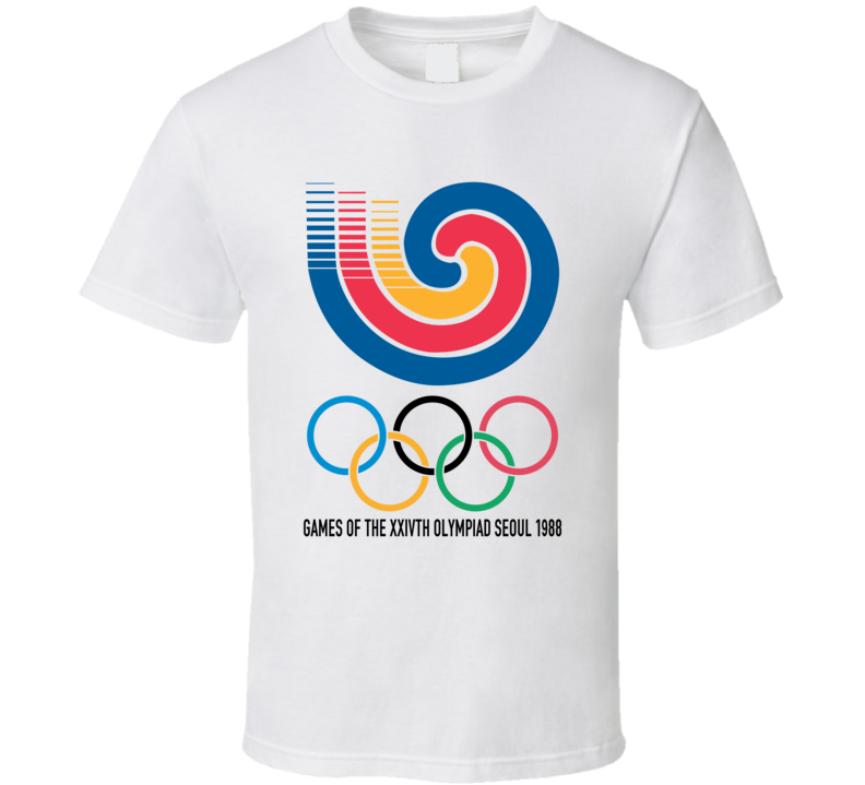Seoul Summer 1988 Olympics Retro Logo World Olympiad Event T Shirt