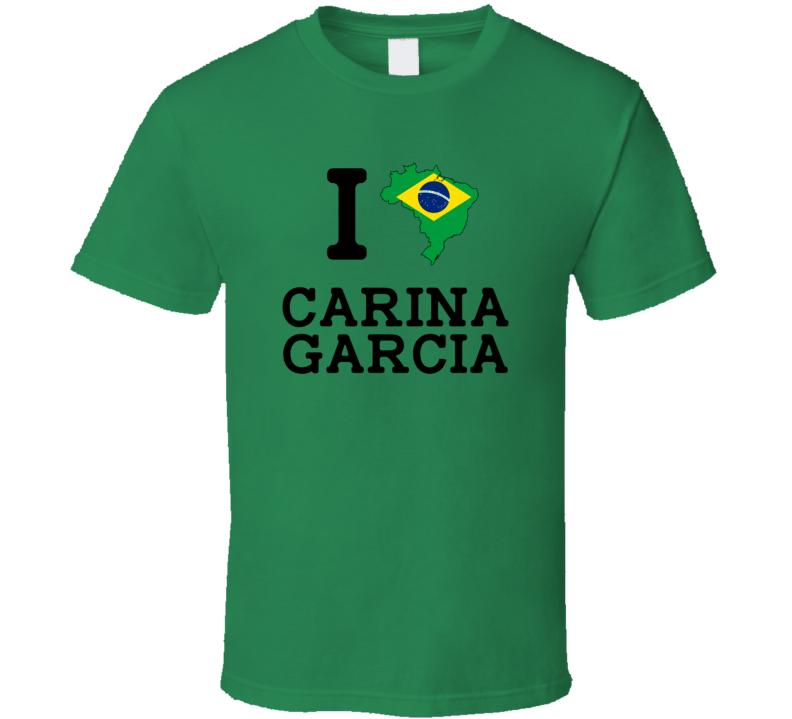 I Love Carina Garcia Brazil Shooting Olympics T Shirt