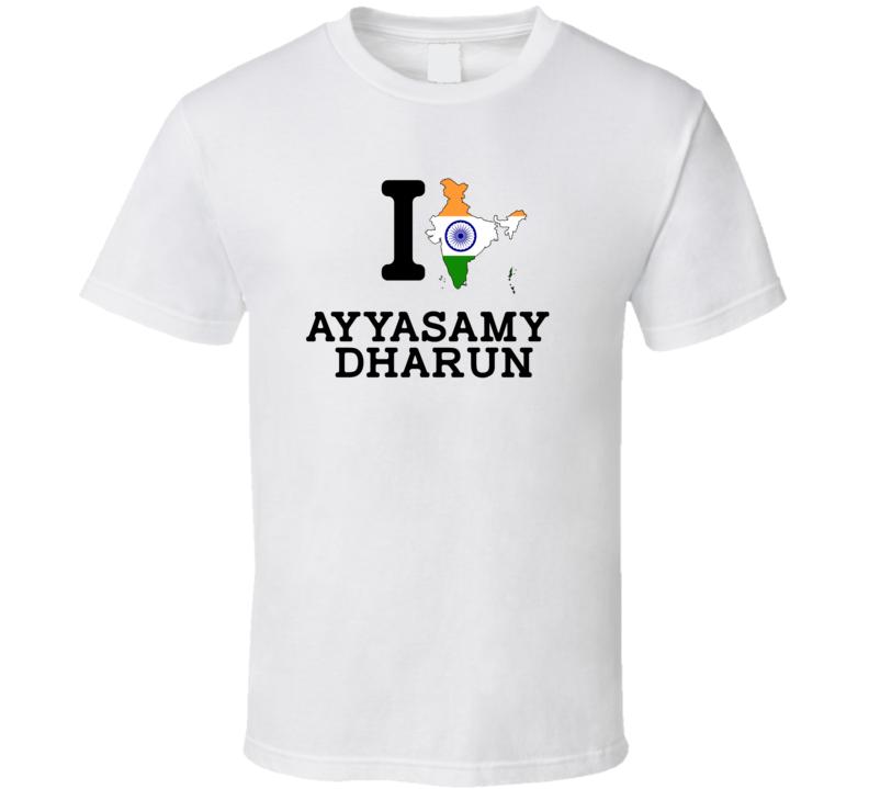 I Love Ayyasamy Dharun India Track 4 X 400 M Relay Olympics T Shirt