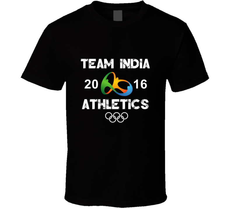 India Athletics Team Rio 2016 Olympic Games Sport T Shirt