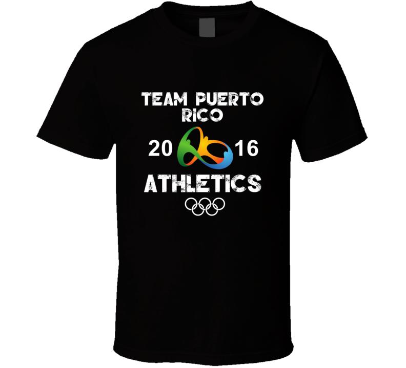 Puerto Rico Athletics Team Rio 2016 Olympic Games Sport T Shirt
