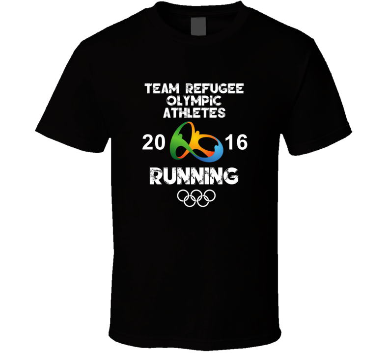 Refugee Olympic Athletes Running Team Rio 2016 Olympic Games Sport T Shirt