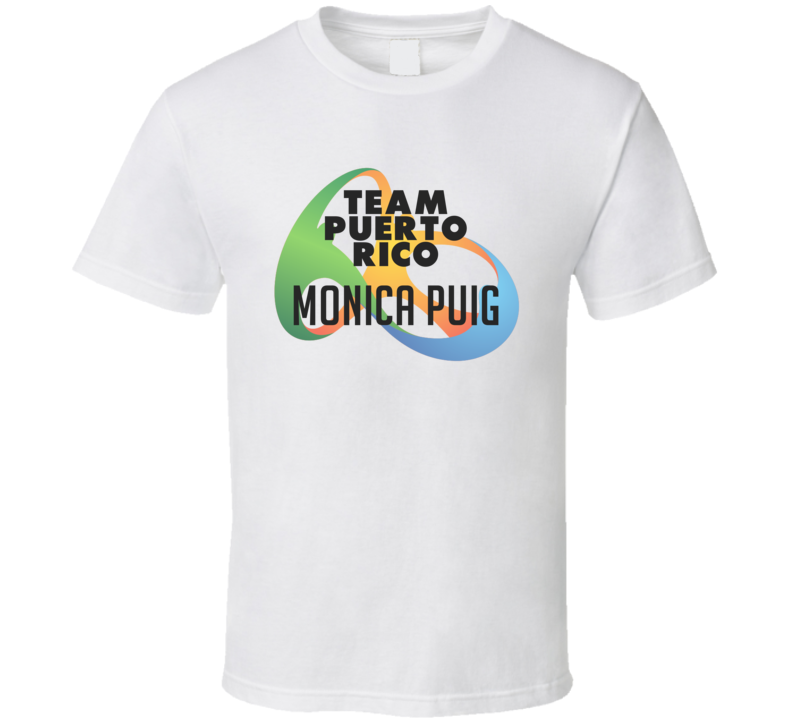 Monica Puig Puerto Rico Rio Olympics 2016 Logo T Shirt