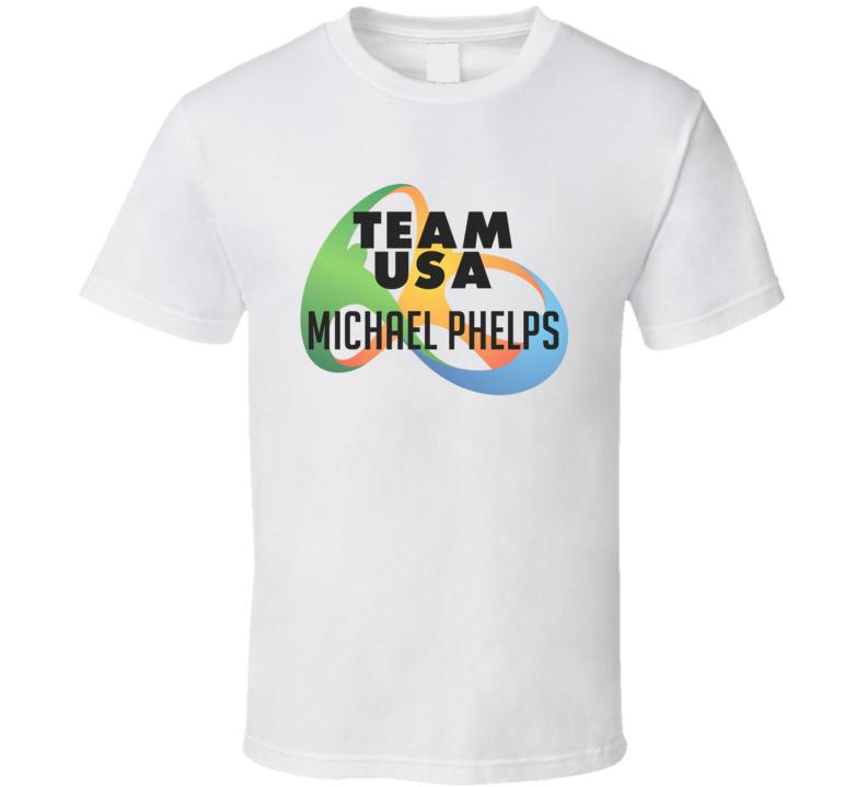 Michael Phelps Usa Rio Olympics 2016 Logo T Shirt