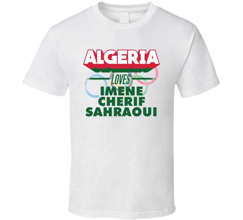 Algeria Loves Imene Cherif Sahraoui Sailing Olympics T Shirt