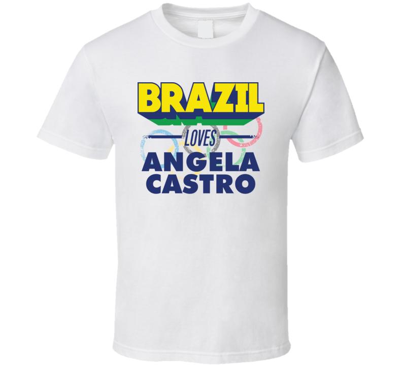 Brazil Loves Angela Castro Athletics Olympics T Shirt