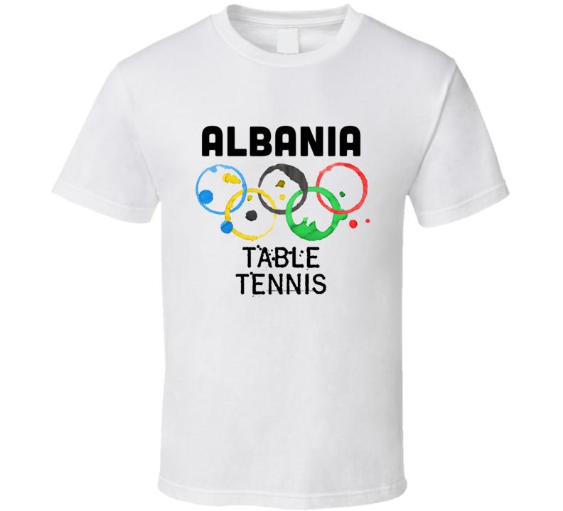 Albania Table Tennis Rio 2016 Summer Olympics T Shirt