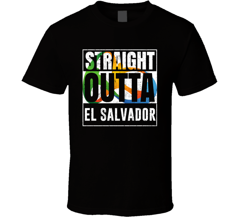 Straight Outta El Salvador Rio 2016 Olympic Country Team Fan T Shirt