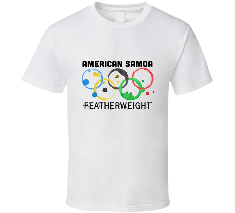American Samoa Featherweight Rio 2016 Summer Olympics T Shirt