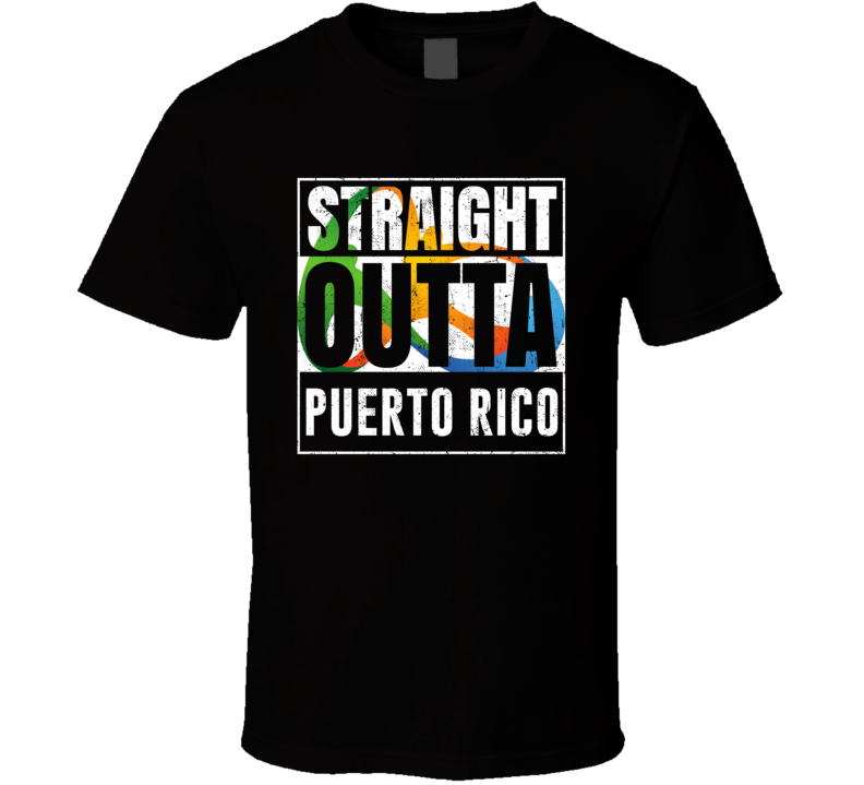 Straight Outta Puerto Rico Rio 2016 Olympic Country Team Fan T Shirt
