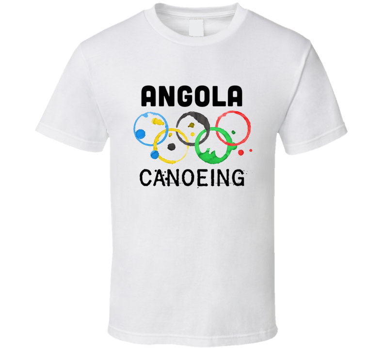 Angola Canoeing Rio 2016 Summer Olympics T Shirt