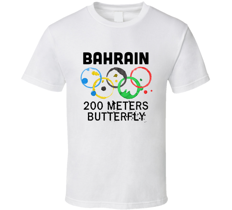 Bahrain 200 Meters Butterfly Rio 2016 Summer Olympics T Shirt