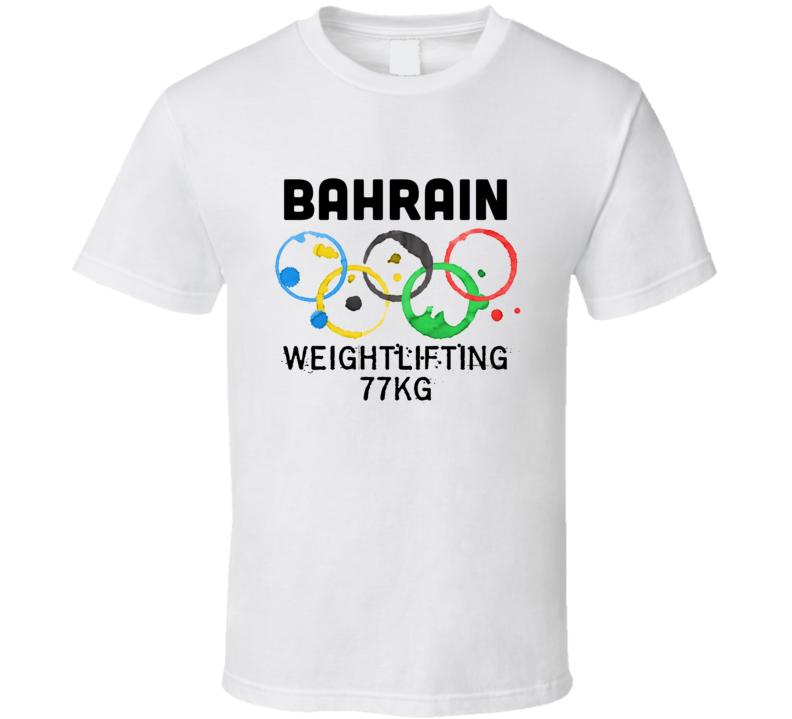 Bahrain Weightlifting 77Kg Rio 2016 Summer Olympics T Shirt