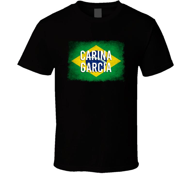 Country Flag Carina Garcia Brazil Shooting Olympics T Shirt