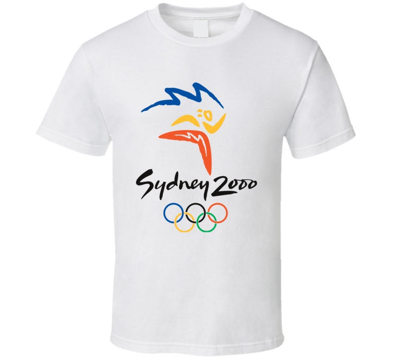 Sydney Summer 2000 Olypics Retro Logo World Olympiad T Shirt