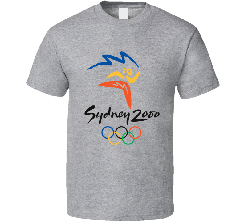 Sydney Summer 2000 Olypics Retro Logo World Olympiad Fan T Shirt