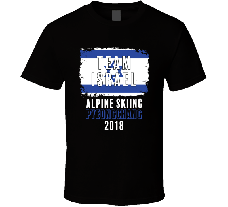 Team Israel Alpine Skiing Pyeongchang 2018 Olympic T Shirt