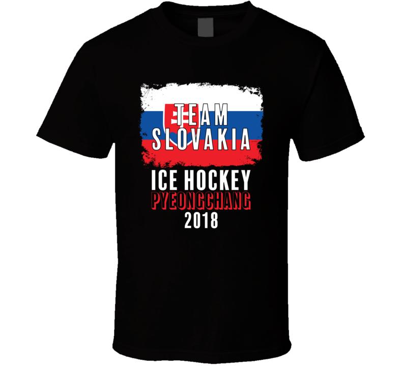 Team Flag Slovakia Ice Hockey Pyeongchang 2018 Olympic T Shirt