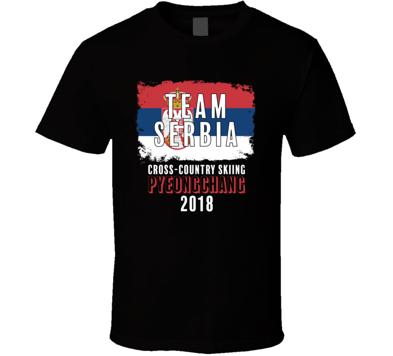 Team Flag Serbia Cross Country Skiing Pyeongchang 2018 Olympic T Shirt