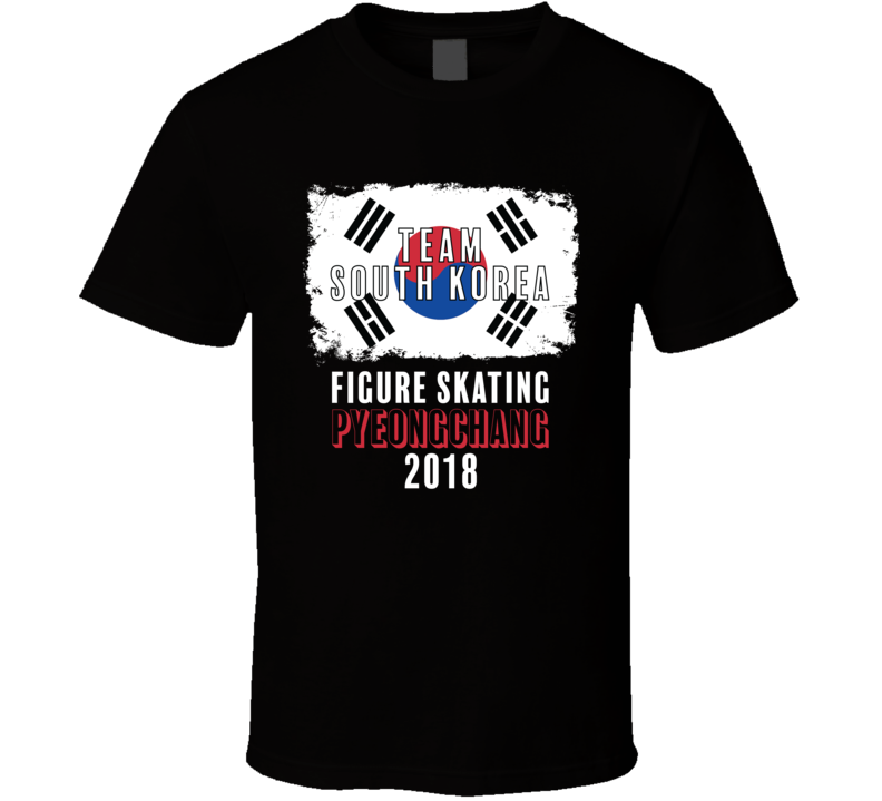 Team Flag South Korea Figure Skating Pyeongchang 2018 Olympic T Shirt