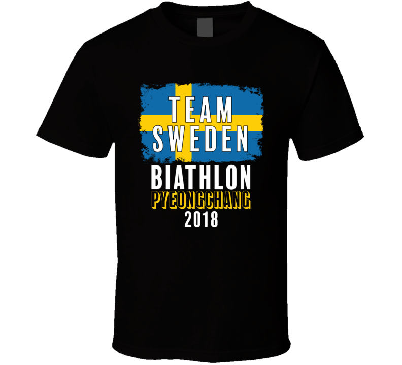 Team Flag Sweden Biathlon Pyeongchang 2018 Olympic T Shirt